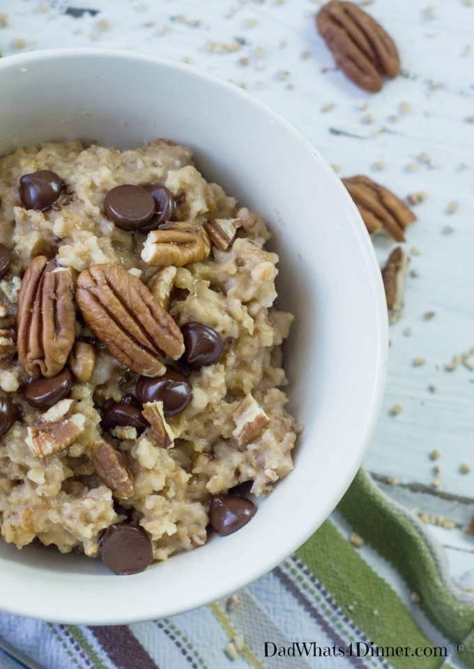 Slow cooker overnight derby pie oatmeal recipe for Slow cooker breakfast recipes for two