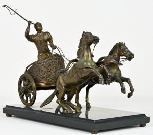 Roman Charioteer Bronze