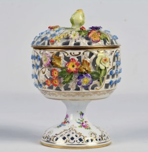 Dresden Footed Potpourri Bowl