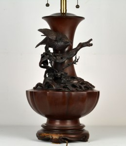 Japanese Bronze Lamp