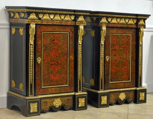 Pair of French Boulle Cabinets