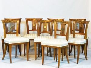 8 Austrian Biedermeier Side Chairs