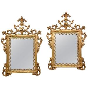 Italian Gilt Wood Mirrors