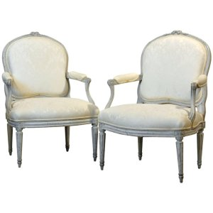 Pair French Louis XV Chairs