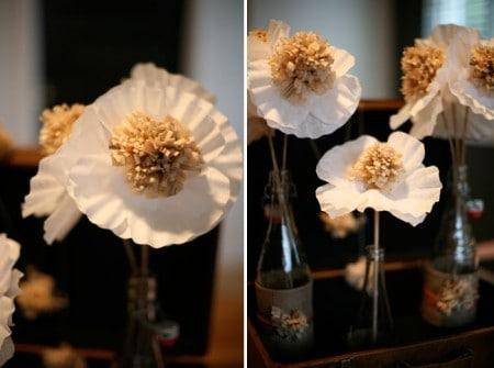 DIY coffee filter paper flowers