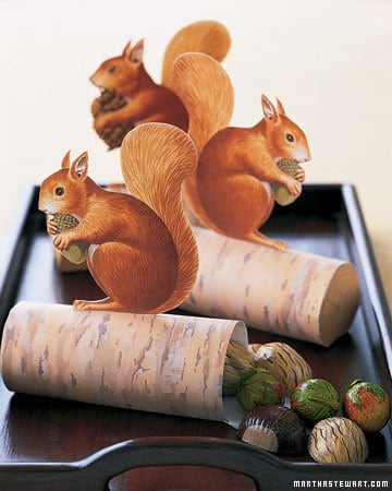 DIY Paper Squirrel Favors for Thanksgiving