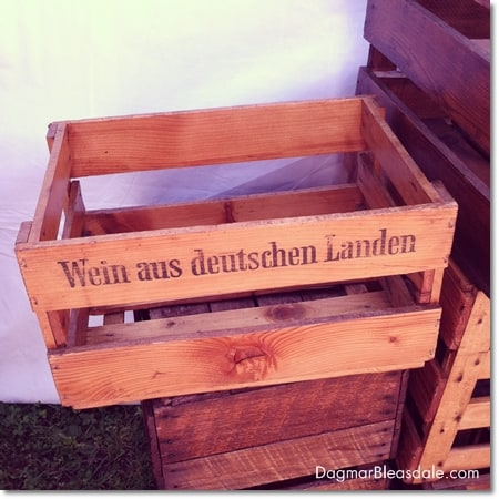 wooden wine create from Germany