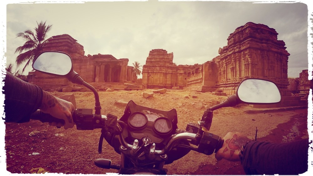 Pattadakal, India , Badami , aihole, Pattadakal Heritage Site, motorcycle through India