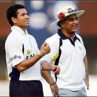 Sachin Tendulkar and Sunil Gavaskar