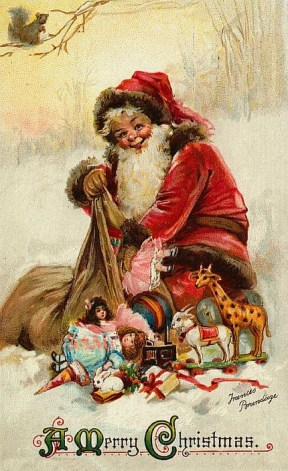 Christmas card by Frances Brundage Weihnachtsmann