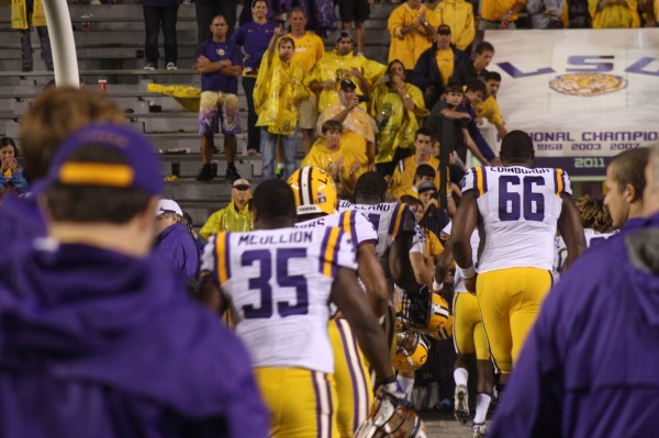 KSU Football team heading to the locker room after the Auburn Game.