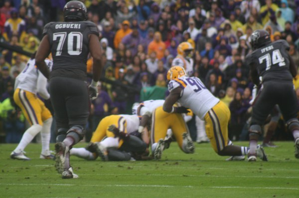 The LSU defense put the clamps on Johnny Football, a well respected ruinning QB.