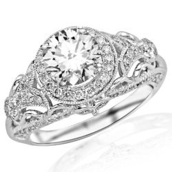 153-Carat-Round-Cut-Round-Diamond-Engagement-Ring-14K-White-Gold-Vintage-Halo-Style-J-Color-SI2-Clarity-0