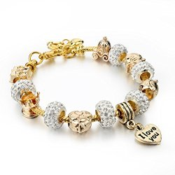 Long-Way-Gold-Plated-Snake-Chain-Glass-Crystal-Beads-I-Love-You-Charm-Beaded-Bracelets-for-Women-0
