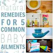 natural remedies for 5 common baby ailments