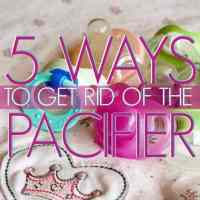 5 ways to get rid of the pacifier