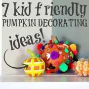 7 Kid-Friendly Pumpkin Decorating Idea (needs brightening)