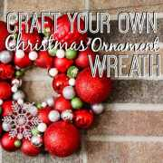 DIY Christmas ornament wreath (2)