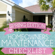 Homeowners Maintenance Checklist Spring Edition
