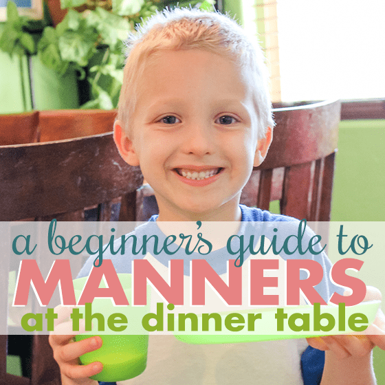 A Beginners Guide to Manners- At the Dinner Table