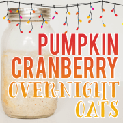 Pumpkin Cranberry Overnight Oats