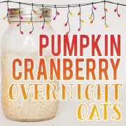 Pumpkin Cranberry Overnight Oats