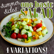 Summer Sides One Basic Salad 4 Variations