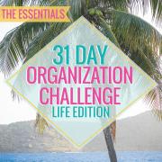 31 Day Organization Challenge Life Edition The Essentials
