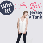 Win It - Au Lait Jersey V Tank