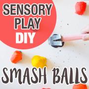 Smashing Balls, DIY Sensory Play 5