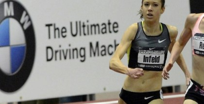 Emily Infeld runs indoors (courtesy TrackAndFieldPhoto.com)