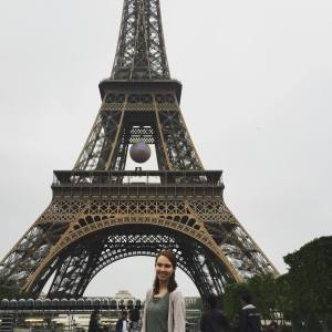 Emily on the study abroad trip to Paris, France, Jun. 2016.