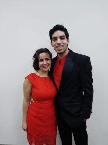 The hosts for Regent's Got Talent, Joél Cassanova and Kasey Ficara.