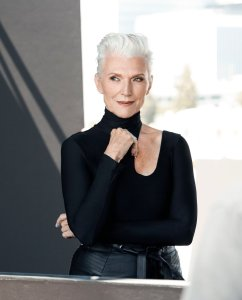 Behind the scenes of CoverGirl's Maye Musk shoot. (CoverGirl)