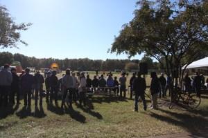 Fans gather to watch the Chili Bowl at Regent University, Virginia Beach, VA, Saturday, Nov. 12, 2016. (Nicolas Reynolds)