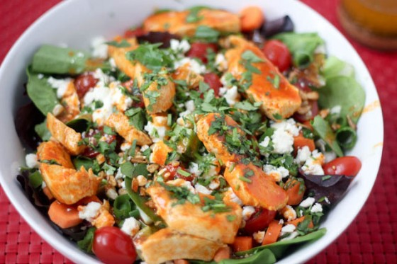 Buffalo Chicken Salad with Parmesan-Dill Vinaigrette ...