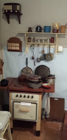 20th Century Kitchen with Portable Radio