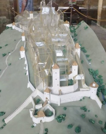 A Diorama of the Prague Castle and its Stages of Development