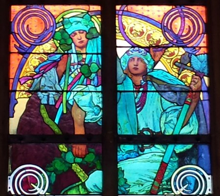 Mucha Stained Glass Detail