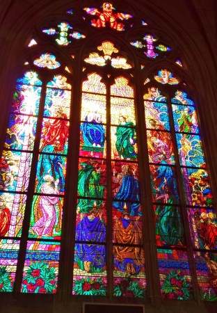 St. Vitus Cathedral Modern Stained Glass Window