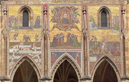 St. Vitus Cathedral, South Portal, with Mosaic of the Last Judgment
