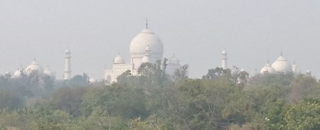 The View of the Taj Mahal from our Balcony