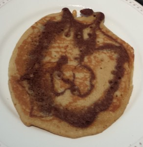 First Cocoa Swirled Pancake