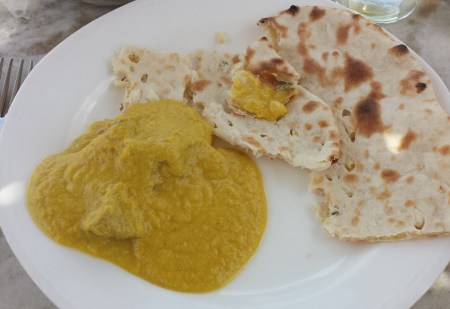 Goat Curry and Naan