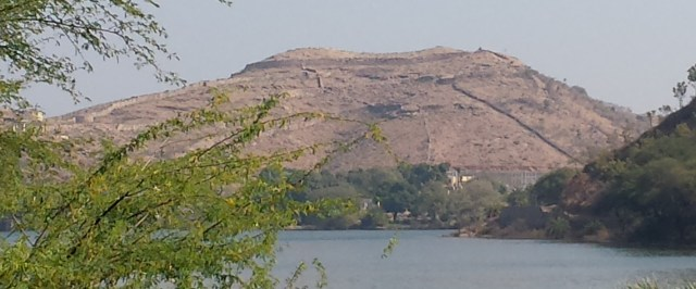 Lake and Hill Across From Sas-Bahu