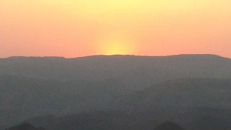 Sun Completely Set from the Monsoon Palace