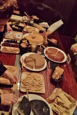 Spread of Miyoko's Vegan Cheeses at VSpot