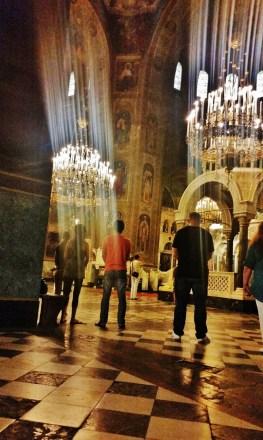Alexander Nevsky Cathedral's Interior During Vespers