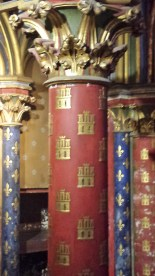 Painted Column in Lower Chapel