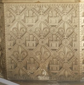 Panel of French Symbols on Exterior of Lower Chapel